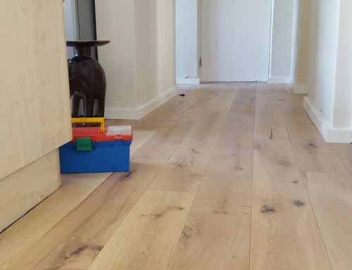 A recent rustic engineered wooden flooring installation.